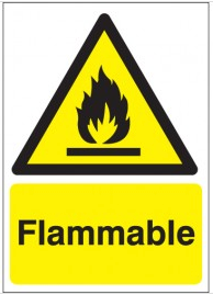 Flammable Warning Signs SSW0226