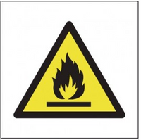 Flammable symbol signs SSW0225