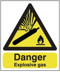 Danger Explosive Gas warning sign SSW0224