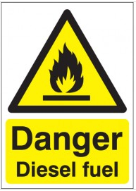 Danger Diesel Fuel Workplace Signs SSW0222