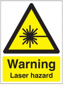 Laser hazard warning health & safety signs SSW0213