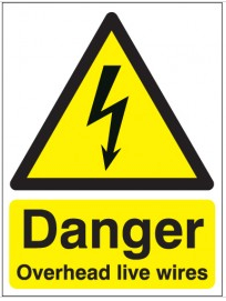 Danger Overhead Live Wires Signs SSW0211