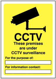 CCTV Sign for Indoor and Outdoor Use SSW0058
