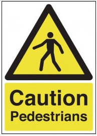 Caution Pedestrians Signs SSW0209