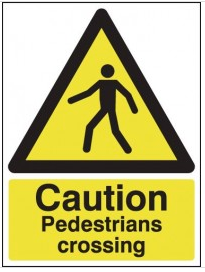 Caution Pedestrians Crossing Signs SSW0207