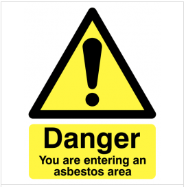You Are Entering An Asbestos Area Warning Sign SSW0204