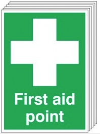 First Aid Point Signs 6 Pack SSW0201