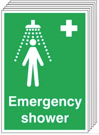 Emergency Shower Signs 6 Pack SSW0200