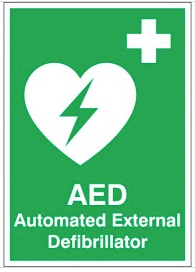 Automated External Defibrillator health & safety signs SSW0027