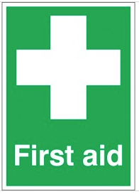 Quick Identification for First Aid Equipment signs SSW0196