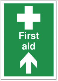 First Aid Signs With Arrow Up SSW0187