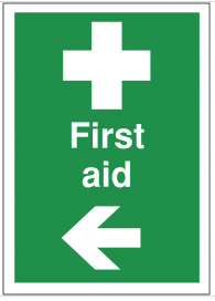 First Aid Signs With Arrow Left SSW0186