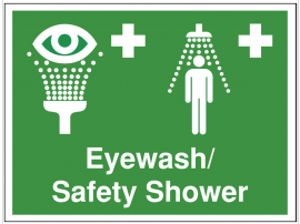 Safety Signs - Eyewash / Shower SSW0181