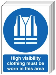 High Visibility Clothing - 6 Pack Signs SSW0173