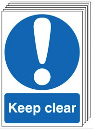 Keep Clear Signs - 6 Pack SSW0171