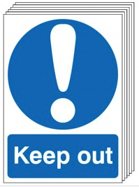 Keep Out Signs - 6 Pack SSW0169