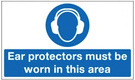 Ear Protectors Must Be Worn In This Area Signs SSW0167