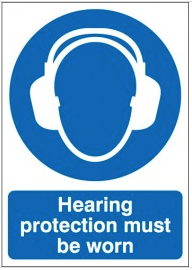 'Hearing Protection Must Be Worn' Signs SSW0006
