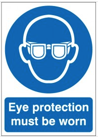 Eye Protection Must Be Worn Signs SSW0165