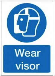 Wear Visor Signs SSW0164