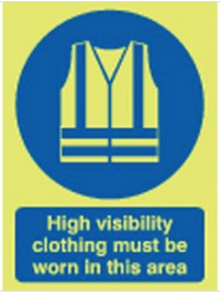 High Visibility Clothing... Photoluminescent Signs SSW0162