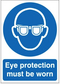 Eye Protection Must Be Worn Photoluminescent Signs SSW0161