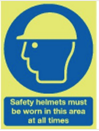 Safety Helmets Must Be Worn... Photoluminescent Signs SSW0160