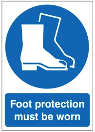 Foot protection must be worn sign SSW0159