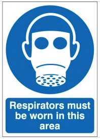 Respirators Must Be Worn In This Area Signs SSW0158