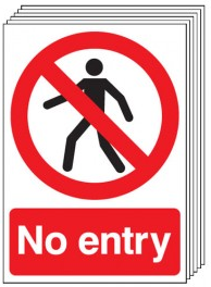 No Entry Signs - 6 Pack SSW0154