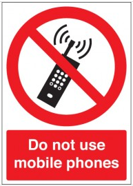 Universal, prohibitive mobile phone sign SSW0150