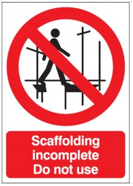 Scaffolding Incomplete Do Not Use Signs SSW0146