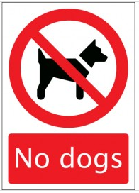 No dogs sign SSW0141