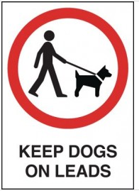 Keep Dogs on Leads Sign SSW0136