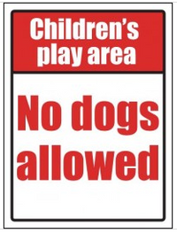 'Children's Play Area, No Dogs Allowed' Sign SSW0002