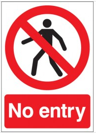 No Entry Signs SSW0134