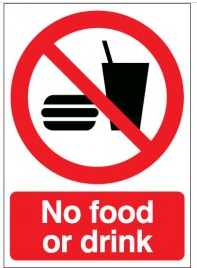 No Food Or Drink Signs SSW0131