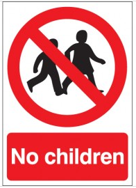 No children safety signs SSW0128