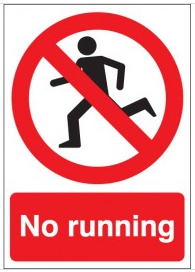 'No Running' Signs SSW0010