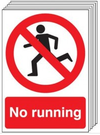 Six Pack No Running Signs SSW0124