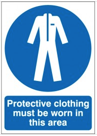 Protective clothing must be worn PPE workplace safety signs SSW0121