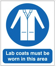 Lab Coats Must Be Worn In This Area Sign SSW0120