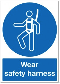 Wear Safety Harness Signs SSW0119