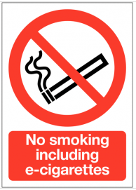 No Smoking Including E-Cigarettes Sign SSW0113