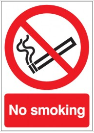 No Smoking Sign SSW0112