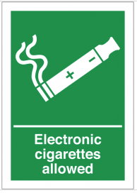 Electronic Cigarettes Allowed Signs