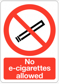 No E-Cigarettes allowed sign SSW0110