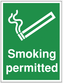 Smoking permitted safety signs SSW0108