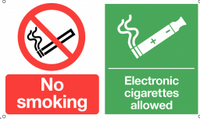 No Smoking and Electronic Cigarettes Allowed Dual-Message Sign