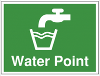 Water point construction site sign SSW0098